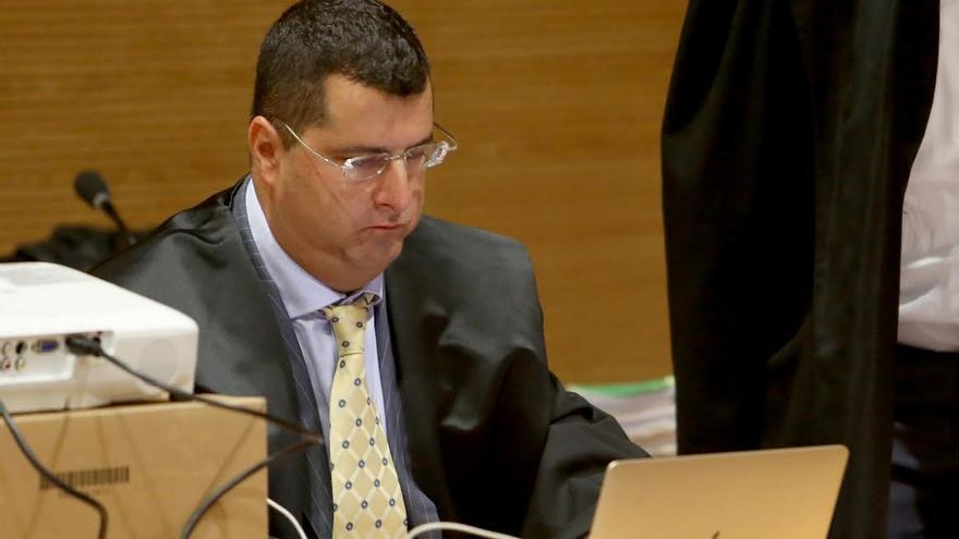 Luis Lleó, principal imputado del caso Unión, en el juicio por administración desleal de una empresa familiar. (ALEJANDRO RAMOS)