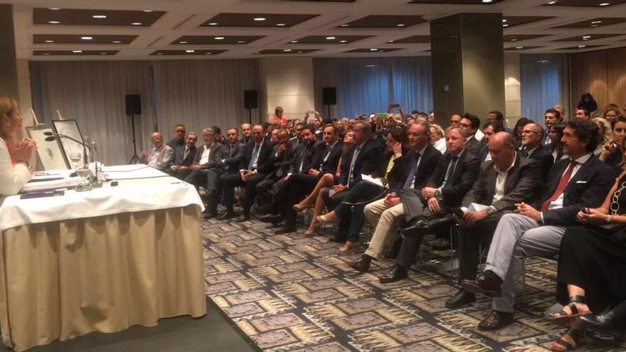 Imagen de la intervención de Bonig en el Club de Encuentro Manuel Broseta