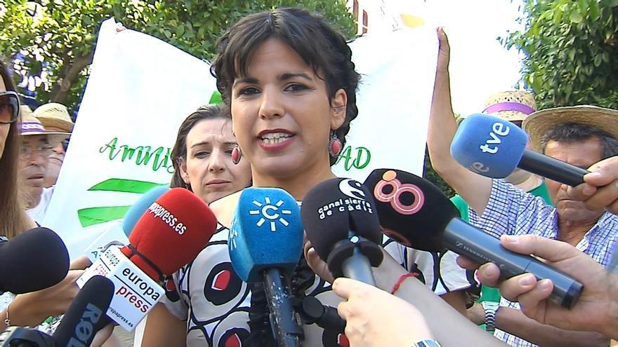 """Teresa Rodríguez exige a Rajoy y Díaz """"un alto en la campaña electoral"""" para """"abordar soluciones para Doñana"""""""