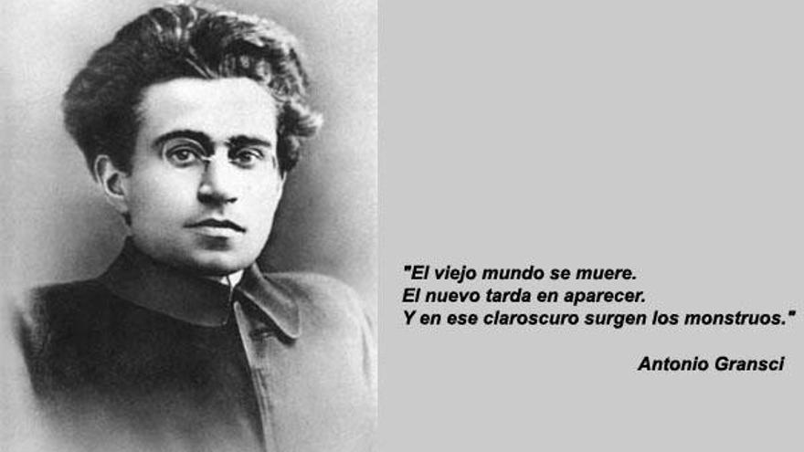 Antonio Gramsci (montaje encontrado en Internet)