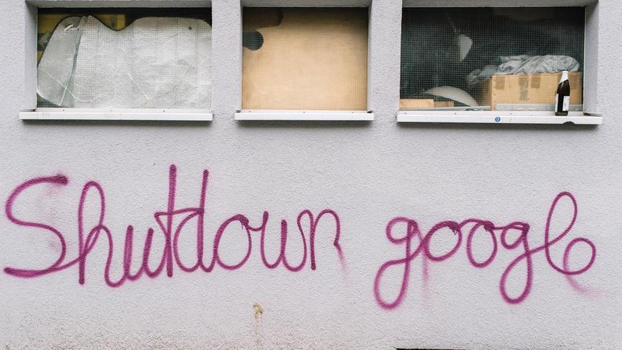 Pintada contra Google en Berlín.