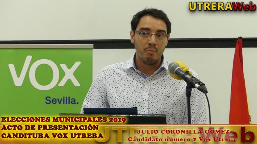El presidente de VOX y número 2 de la candidatura de extrema derecha en Utrera (Sevilla), Julio Coronilla. | UTRERA WEB