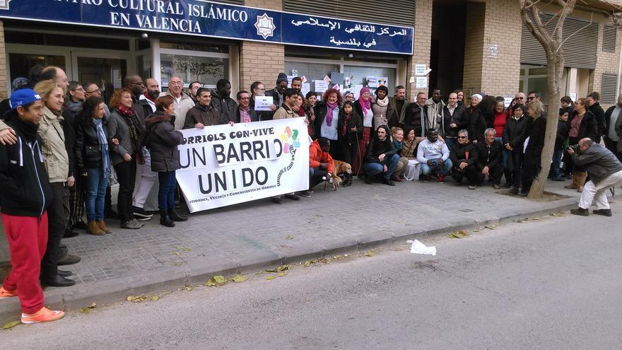 Manifestación contra el racismo en Orriols.