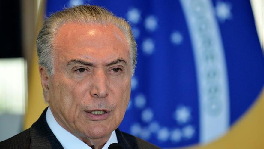 Temer reafirma su liberal plan económico y asegura que Brasil gana confianza
