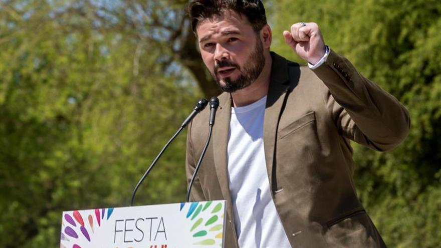 Rufián, sobre la moción de censura: por ERC no será, si no hay trabas a referéndum