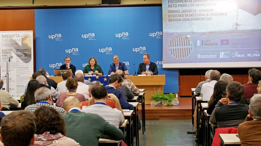 El tratamiento de las escorrentías urbanas con drenaje sostenible, en unas jornadas técnicas de NILSA y UPNA
