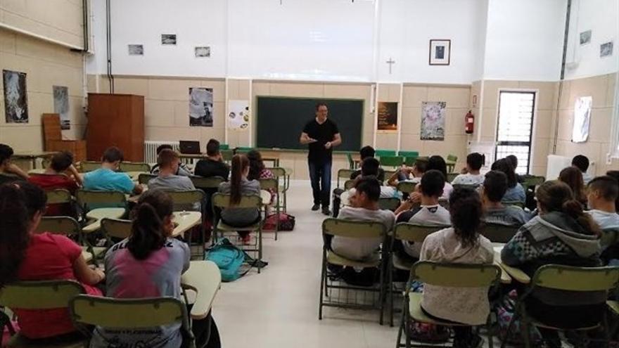 Imagen de una clase en el IES San Roque en el Curso 2017.