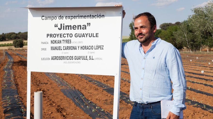Ángel García, el agricultor que propuso la alternativa al caucho
