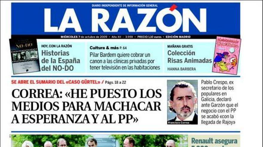 El 'caso Gürtel' invade las portadas de los principales periódicos nacionales #5