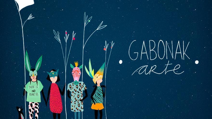 Ane Pikazak egindako ilustrazioa, Gabonak Arte eta Fridays For Future mugimendua lotzen dituena