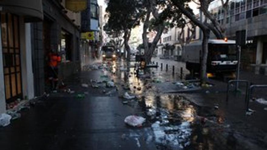 La Cabalgata deja más de tres toneladas de basura en LPGC