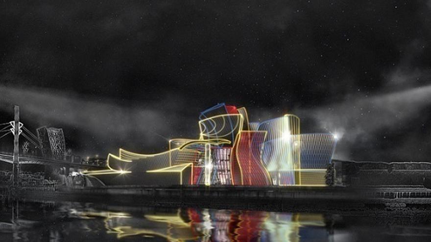 Un espectáculo audivisual al aire libre conmemorará en octubre el vigésimo aniversario de la apertura del Guggenheim