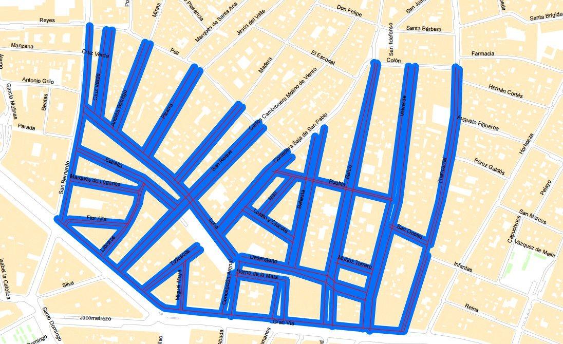 Mapa de las actuaciones previstas de limpieza desde este lunes   AYUNTAMIENTO MADRID