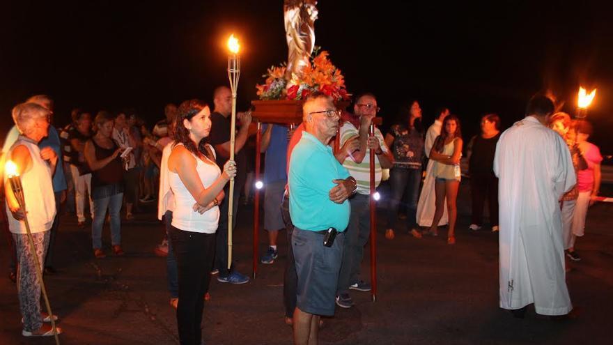 Un momento de la romería de La Bajita. Foto: JOSÉ AYUT.