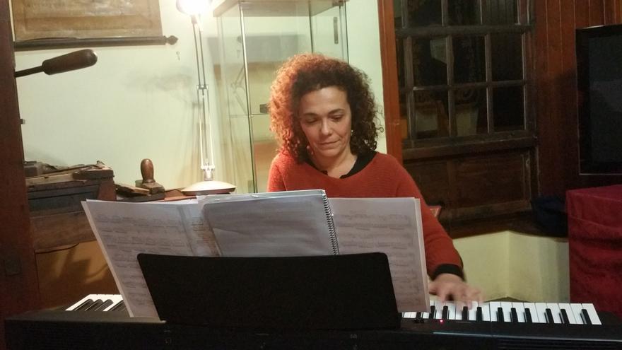 Margarita Galván durante su actuación. Foto: LUZ RODRÍGUEZ.