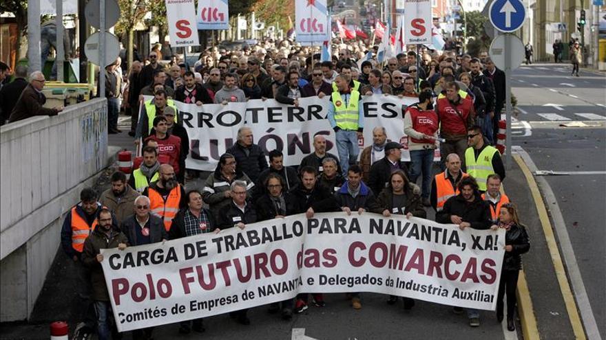 """Los trabajadores de Navantia se manifiestan """"hartos"""" de promesas electorales"""