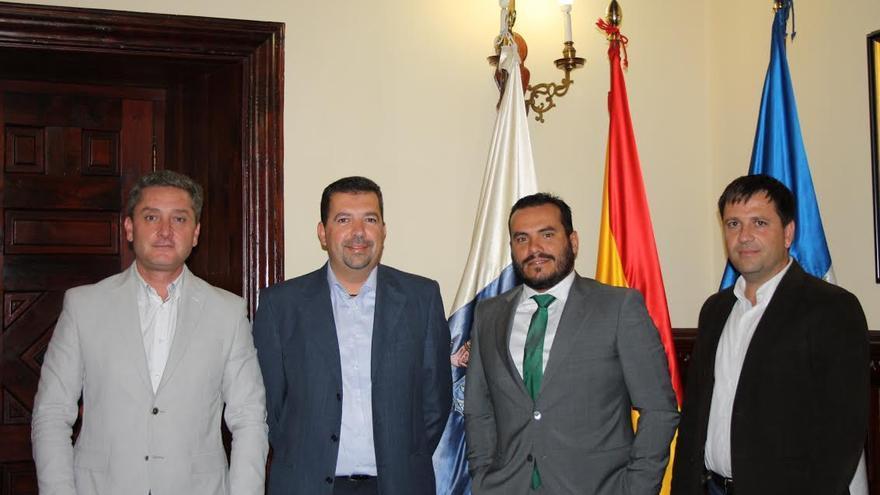 En la imagen, Guillermo García, Juan José Cabrera, Ángel Báez Álvarez y Rubén Fontes.