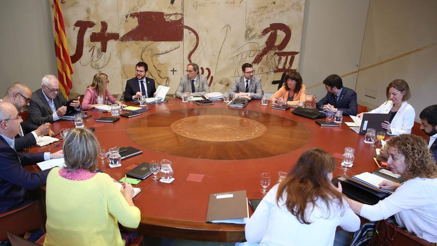 Reunión del Govern catalán en julio de 2018