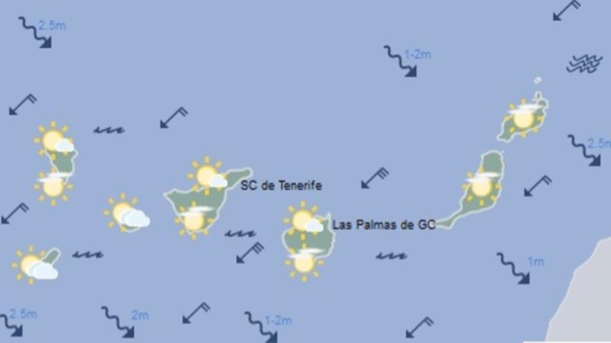 El tiempo en Canarias para este domingo, 9 de diciembre