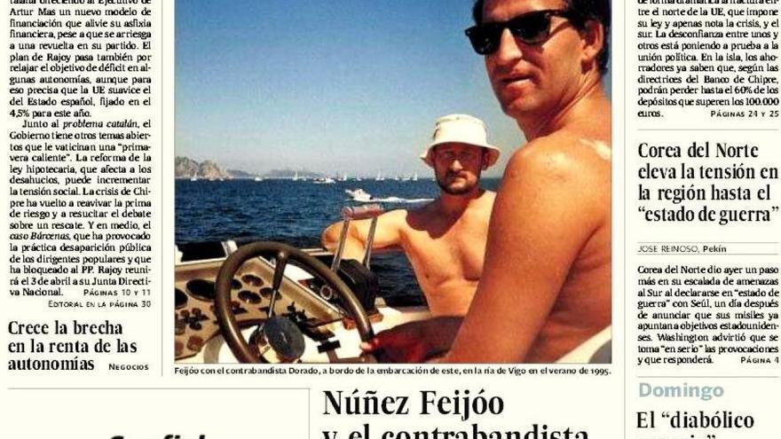 Fotografía de Feijóo y Marcial Dorado publicada en 'El País'