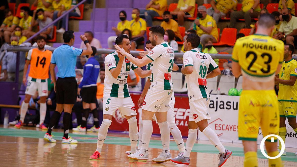 Jugadores del Córdoba Patrimonio celebrando un gol