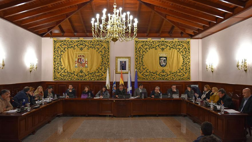 Pleno celebrado en el Ayuntamiento de El Rosario, en una imagen de archivo