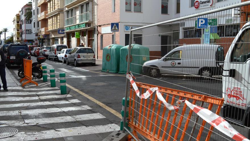 Tramo de la Calle Ruiz de Padrón a partir de la que comienzan este jueves los trabajos
