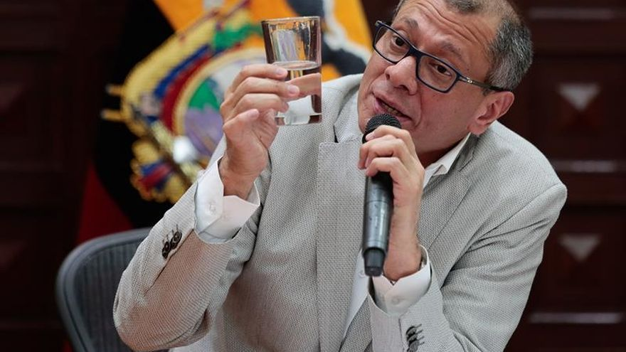 Jueces ratifican la prisión preventiva para el vicepresidente de Ecuador