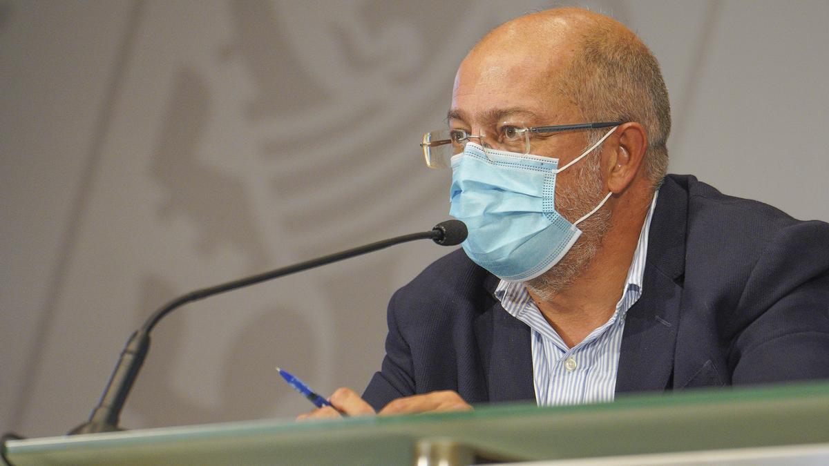 El vicepresidente de la Junta, Francisco Igea, durante la rueda de prensa posterior al Consejo de Gobierno.