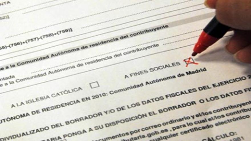 Casilla de fines sociales de la declaración de la renta.
