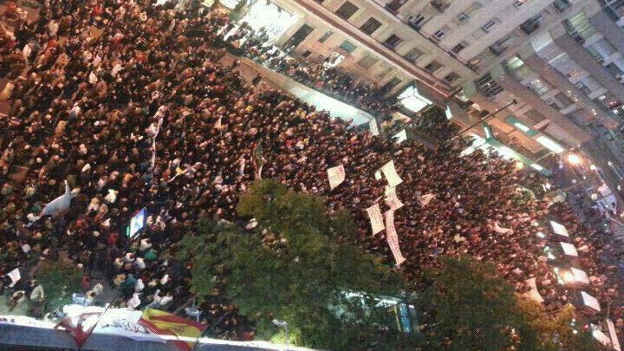 Manifestación contra las medidas privatizadoras en la sanidad de Madrid.