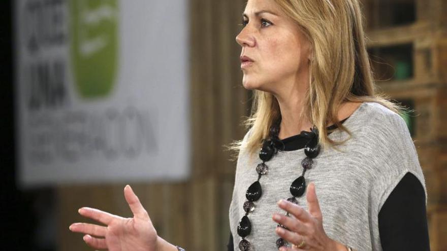 """Cospedal afirma que el PP no consentirá que se quiera separar España """"a machetazos"""""""