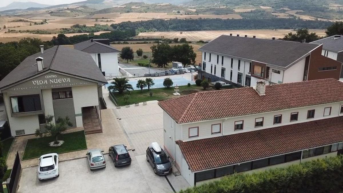 Vista aérea del centro residencial evangelista Vida Nueva de Ciriza