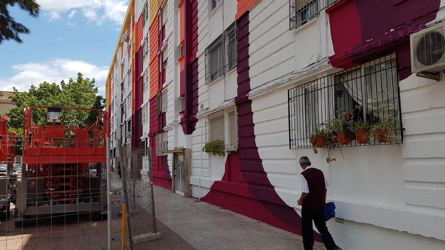 Fachada pintada dentro del proyecto ADN La Paz / E. R.