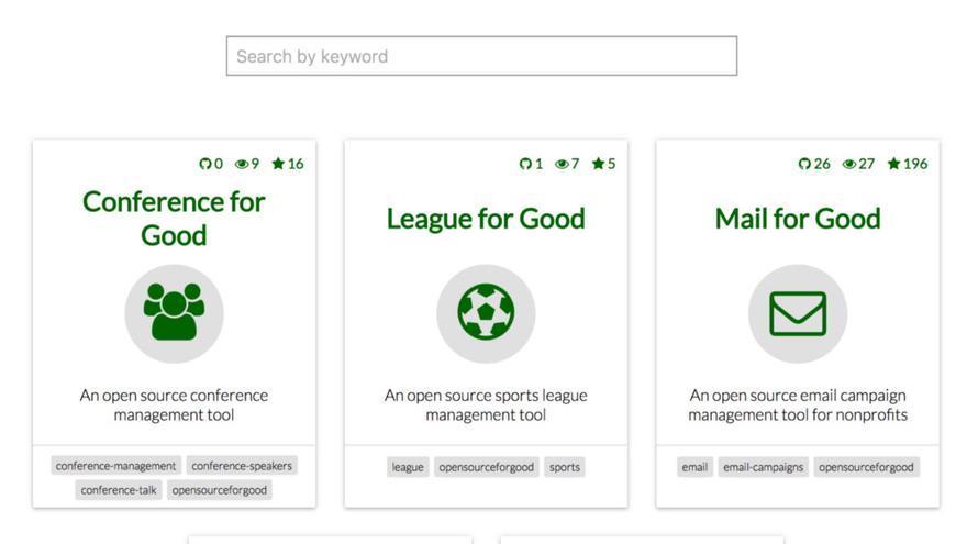 Algunas de las herramientas que están disponibles en Open Source for Good