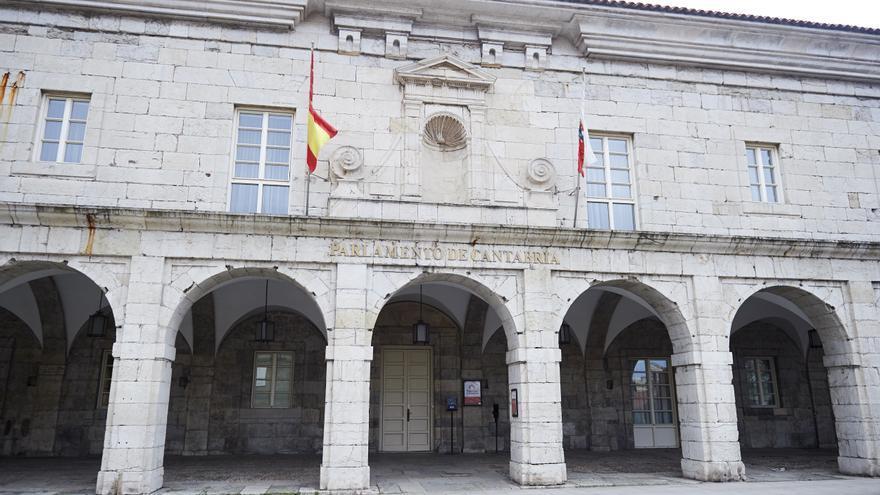 Archivo - Exterior del Parlamento de Cantabria