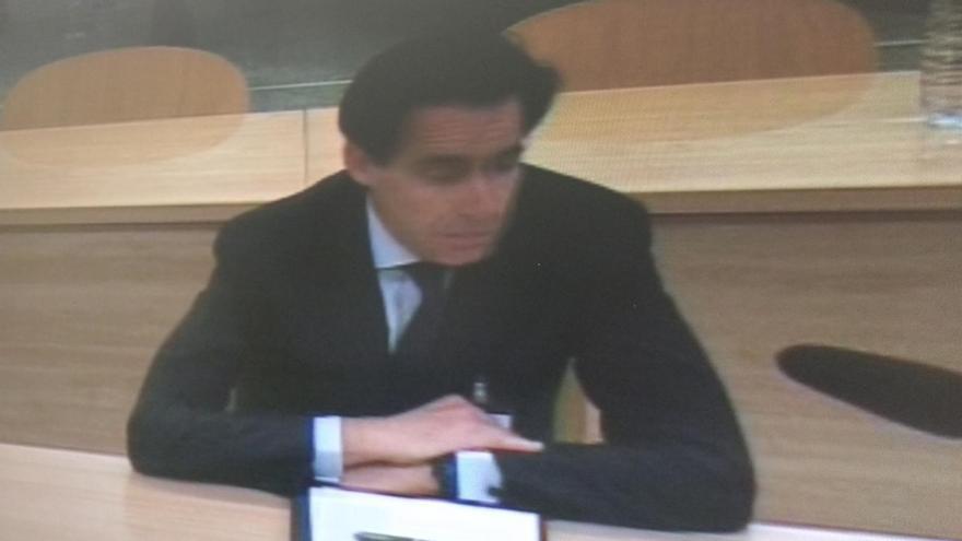 El exconsejero de Bankia Francisco Javier López Madrid, durante su declaración en el juicio por la salida a Bolsa d ela entidad.
