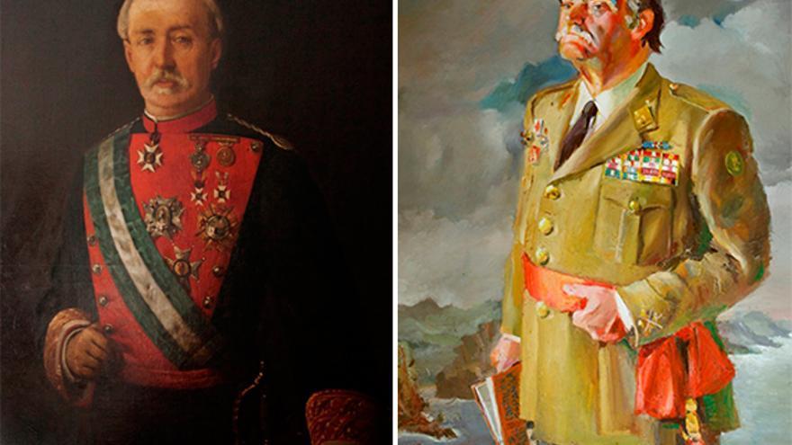 Cuadros de ex directores generales de la Guardia Civil