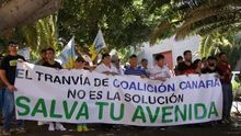 """Unos 300 comercios de La Gallega mantienen su """"unánime"""" rechazo al tranvía por la rambla de Los Majuelos"""
