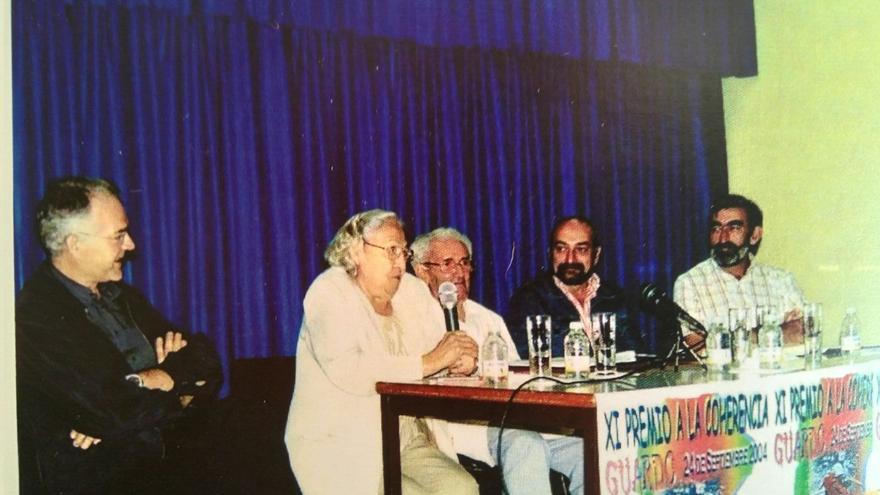 Premio a la coherencia a Marcelino Camacho (Guardo, 2004).