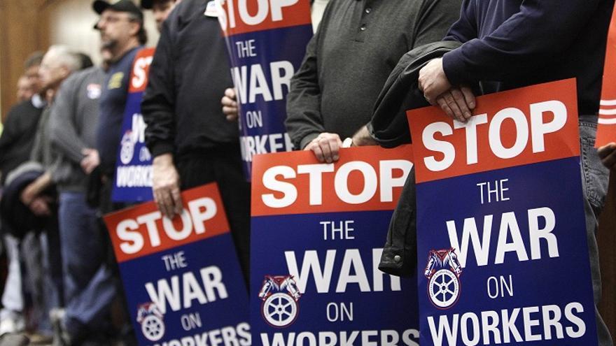 El declive de los sindicatos y los trabajadores pobres en EEUU