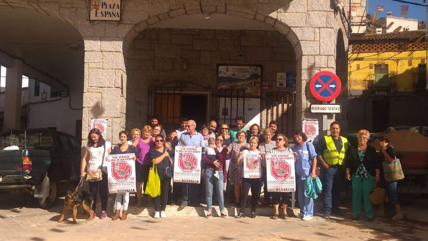 Concentración contra 'La España Vaciada' en El Real de San Vicente (Toledo)