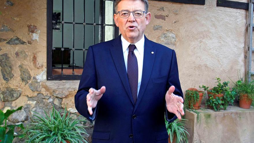 El president de la Generalitat, Ximo Puig, en el mensaje de Año Nuevo en la casa de Miguel Hernández en Orihuela