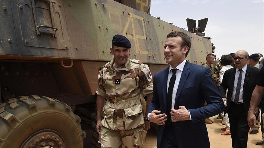 Macron reafirma el compromiso de Francia con la lucha antiterrorista en Mali