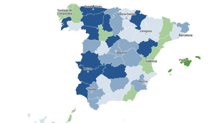 El mapa de la COVID-19 por provincias: no es solo Madrid, los contagios crecen en otras 21 con más de 100 casos por 100.000 habitantes