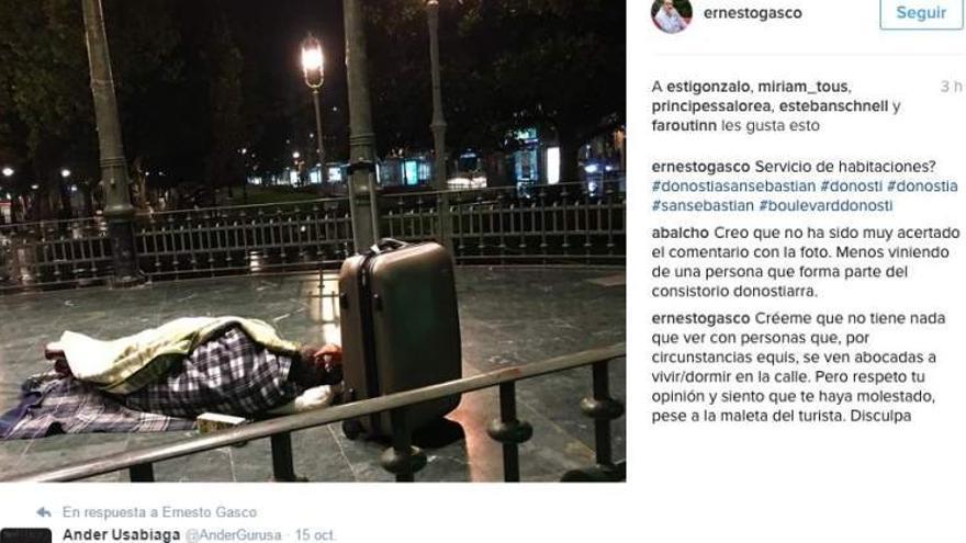 Polémico mensaje en Instagram de Ernesto Gasco