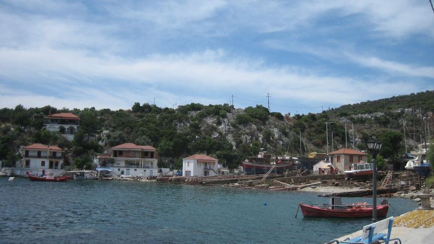 Puerto de Ayia Kiriaki, uno de los pueblos de pescadores del sur de Pelión. Prince Roy