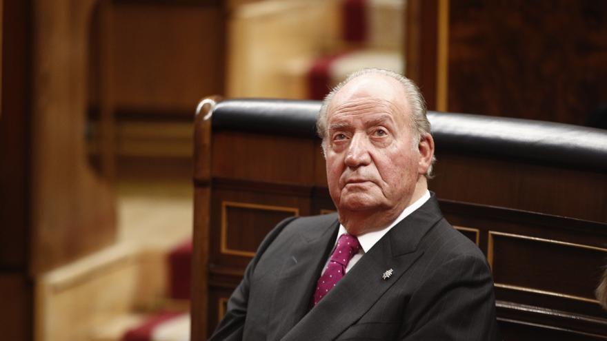 El rey Juan Carlos I en el Congreso, el 6 de diciembre de 2018.