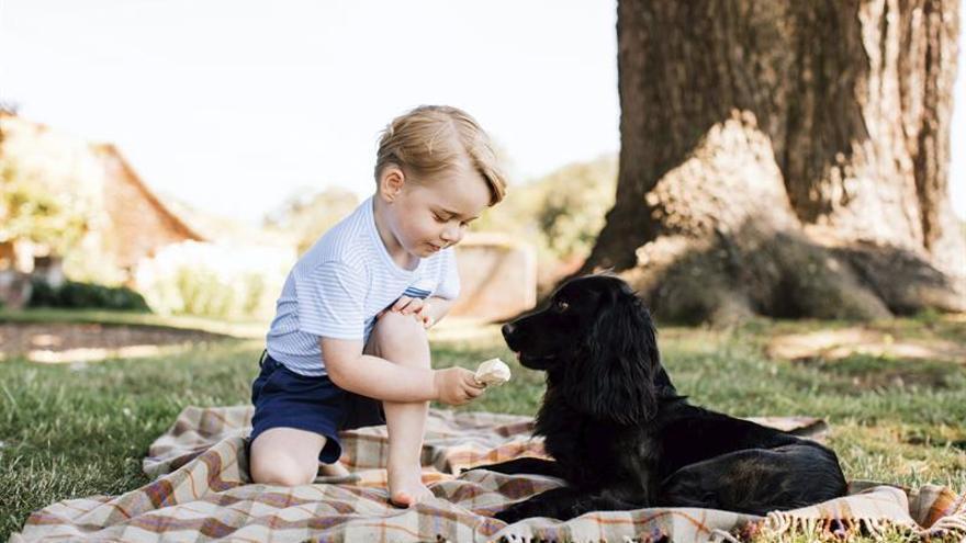 El príncipe Jorge, en nuevas fotos al cumplir tres años