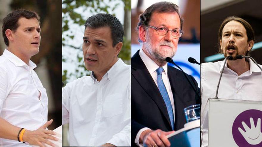 Los cuatro líderes nacionales desembarcan en la campaña del 21D